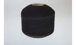 Нить латексная оплетенная полиэфиром 90/150 - 0,28 мм 16,7 текс черная. Россия
